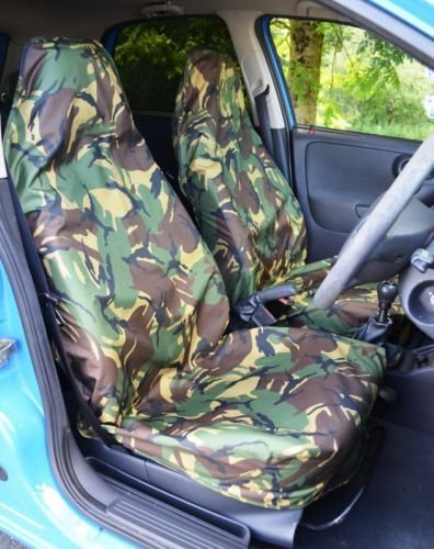Mr E Saver/© Heavy Duty Camouflage Waterproof Seat Cover Protectors Green MRE775