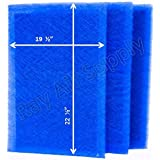 MicroPower Guard Replacement Filter Pads 21x25 Refills (3 Pack) BLUE