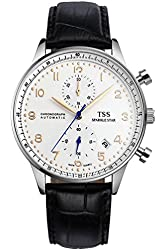 TSS Men's T5010H1 Quartz Chronograph Watch with Leather Band