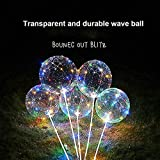 Trigle Christmas Ornaments Reusable Luminous LED Light Holiday Party Balloon Transparent (A, Multicolor)