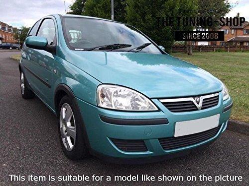 2006/Gear Handbremsmanschette schwarz Italienisches Leder wei/ß Corsa Stickerei Passend f/ür Opel Vauxhall Corsa C 2000