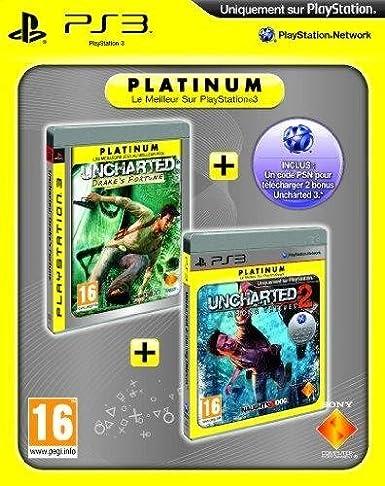 Uncharted Drakes fortune platinum + Uncharted 2 : among thieves platinum + code bonus PSN [Importación francesa]: Amazon.es: Videojuegos