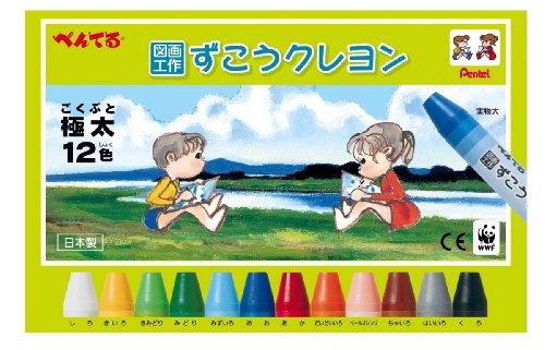 PTCG1-12 12 color crayons Pentel arts and crafts (japan import) (Pentel Crayons)