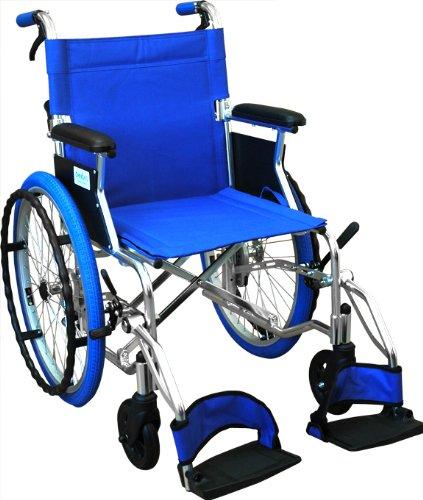 【非課税】島製作所 カラー自走式車椅子Palet  ブルー [自走介助兼用]  ブルー B00E9P1X0S