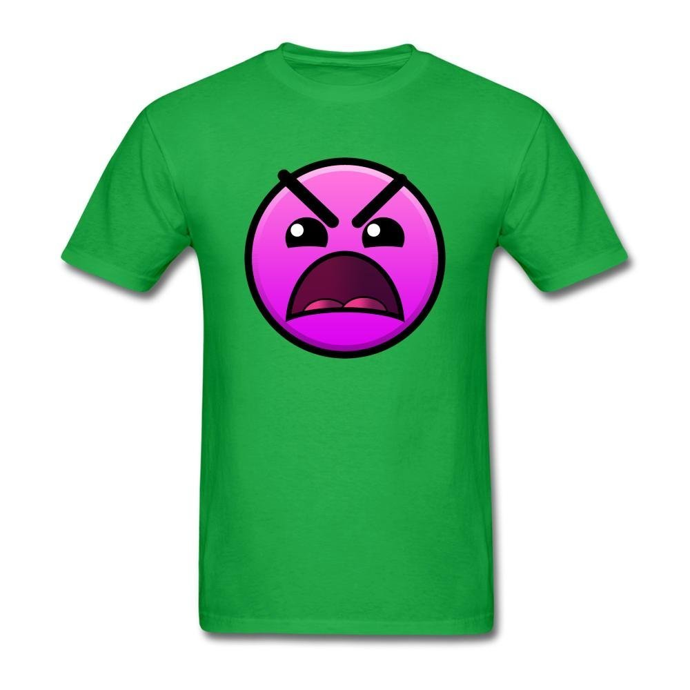 SLJD Men's Insane Geometry Dash Icon Emoji Design T Shirt