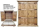 RUSTIC Pine armoire Murphy/Hideaway fold Down Bed Full Size Review