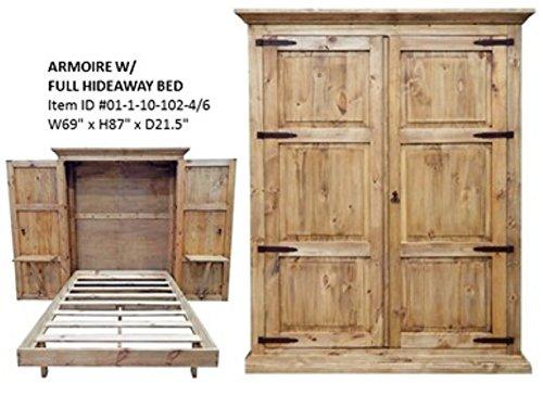 RUSTIC Pine armoire Murphy/Hideaway fold Down Bed Full Size