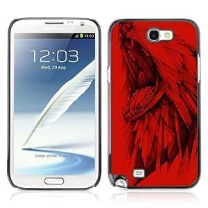 YOYOSHOP [Dire Wolf Painting] Samsung Galaxy Note 2 Case WANGJING JINDA