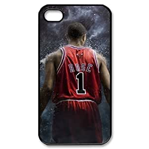 wugdiy Brand New Phone Case for iPhone 4,4S with diy Derrick Rose