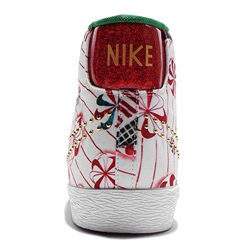Nike Wmns Blazer Mid Qs, Zapatillas de Deporte para Mujer Rojo (Unvrsty Rd / Mtllc Gld-Pn Grn-Wh)