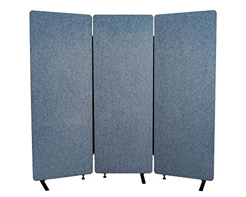 Offex Acoustic Room Dividers - 3 Pack in Pacific Blue