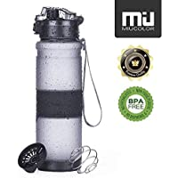 MIU COLOR Sports Water Bottle 1000ml/36oz, Leak Proof Non-Toxic BPA Free Tritan Drinking Water Bottle with 1-Click Open Flip Top Lid & Filter for Sport, Gym, Cycling, Adults, Kids