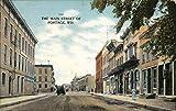 The Main Street of Portage Portage, Wisconsin Original Vintage Postcard