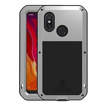 HICASER Xiaomi Mi 8 Funda Impermeable, Anti-Polvo y Resistente a Golpes y Nieve Heavy Duty de Aleación de Aluminio Metal Protectora Waterproof Case ...