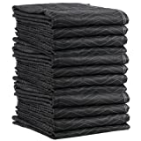Moving Blanket (12-pack) 72'' X 80'' US Cargo Control - Econo Mover (54 lbs/dozen, Black/Black)