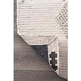 nuLOOM Lauretta Tassel Wool Rug, 3' x 5', Stone