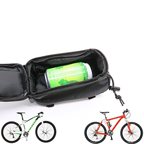 Bike Bag, IDS Waterproof Touch Screen Bicycle Handbar Front Phone Frame Bag Holder For Cellphone Below 6.0 Inch