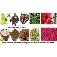 Online Quality Store Amla Reetha Shikakai, Bhringraj and Hibiscus Powder for Hair, 200g