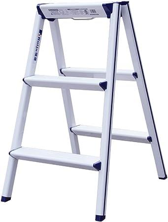 YLYDENGZ ZHDC® Taburetes de Escalera, Escalera de aleación de Aluminio Plegable Escalera pequeña Escaleras de espesura Taburete de Almacenamiento Taburete Perezoso (Color : #2): Amazon.es: Hogar