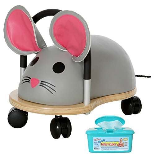 [Wheely Bug Mouse Ride On Toy, Large with Hypoallergenic Baby Wipes] (Ride On Elephant Costume)