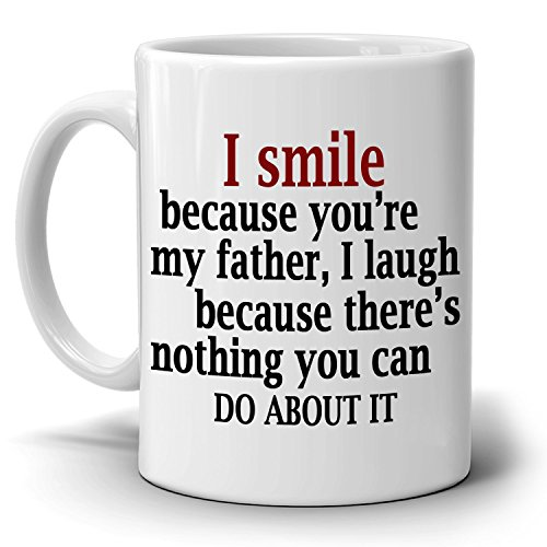 Best Father Papa Dad Gifts from Daughter Coffee Mug, Printed on Both - Online Can Vouchers I Use Next