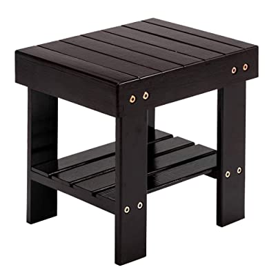 Pumpumly Children Bench Stool for Kids Children Adult.Anti-Slip Lightweight Chairs Seat with Storage Shelf/Foot Pads,Multfunctional for Bathroom,Living Room,Bedroom,Laundry Room or Garden: Kitchen & Dining