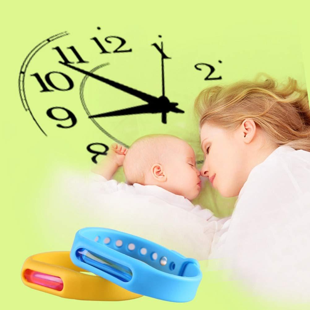 Vosarea M/ückenschutz Armband Nat/ürlichen /Öl Wasserdichte mit Druckknopf Nicht Giftig f/ür Baby Kinder Erwachsene 3 St/ücke Zuf/ällig