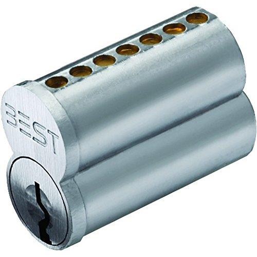 Stanley Best 1C6K1626  1C 6 Pin Uncombined Core, K Keyway Satin Chrome