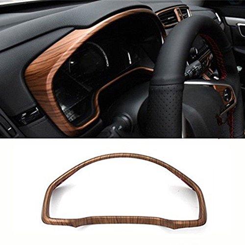 Diking For 2017 2018 Honda CRV Peach Wood Grain Dashboard Decorating Frame Panel Cover (Dashboard)