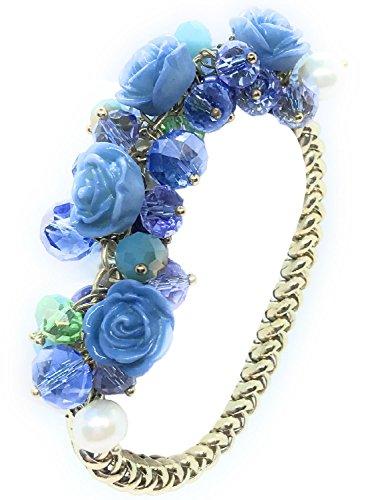 Fashion Glam Floral Aurora Borealis Glass Beaded Stretch - Aurora Premium Outlets