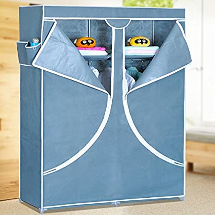 Generic Fashion Designed Double Reinforced Clothes Wardrobe Closet Storage Cabinet Rack
