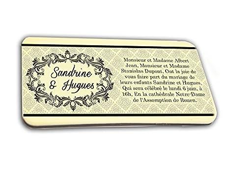 Tarjeta De Invitación En Chocolate Tema Arabesque