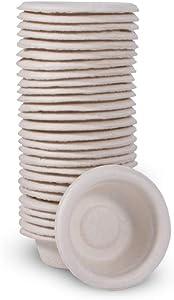 Pangea Small Biodegradable Gecko Food & Water Cups 100 Ct, tan (SPC-100)