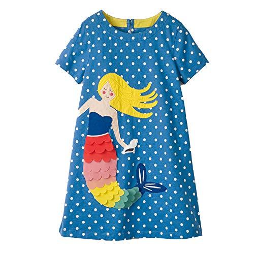 Little Girls Dress Cartoon Cotton Kids Summer Unicorn