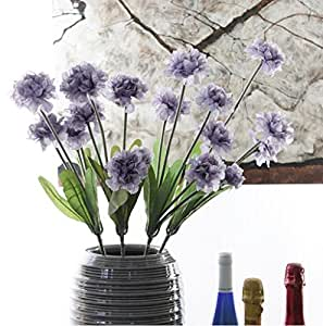 5 carnations, flowers home decoration, artificial flowers