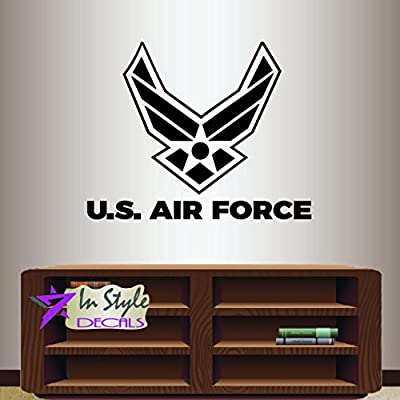 Wall Vinyl Decal Home Decor Art Sticker U.S. Air Force Wings Star Emblem Logo Symbol Army Military Sign Room Removable Stylish Mural Unique Design 2436