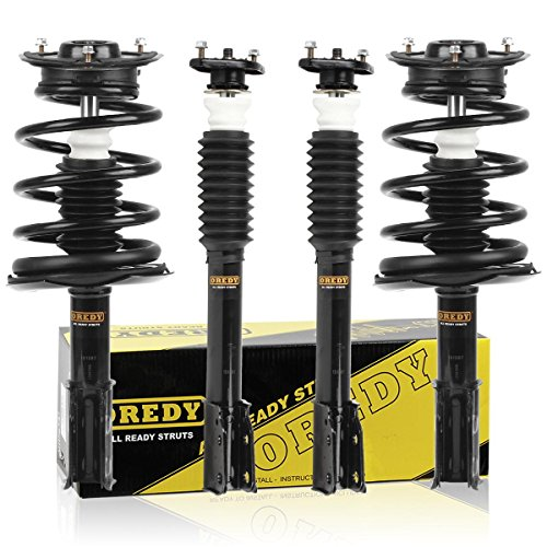 Cadillac Deville Shocks - OREDY Full Set of 4 Complete Quick Struts Shock Coil Spring Assembly Kit compatible with 90-99 Buick LeSabre 91-92 Cadillac DeVille 90-99 Pontiac Bonneville