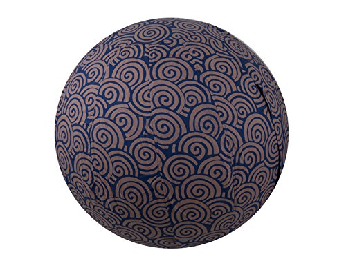 65cm Exercise Ball Cover, Yoga Ball Cover, Balance Ball Cover, Birthing Ball Cover, 100% Cotton - Cobalt Blue Swirl by Global Groove Life
