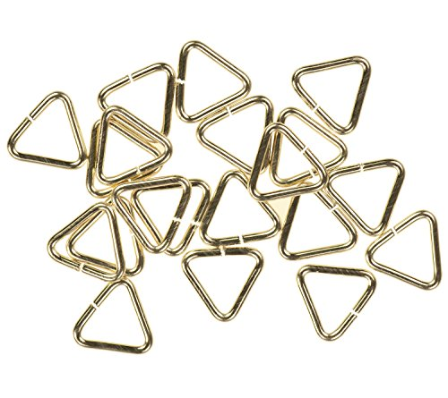 - 20 14K Gold Filled Jump Ring Triangle 22ga 5mm Open Rings