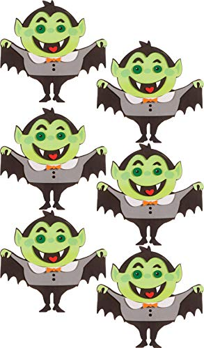 Foamies Halloween Foam Craft Kits for Group, School, Parties, Classroom Activity, Bulk Set (Vampire Dracula Monsters 6 Kits 102 Pieces)