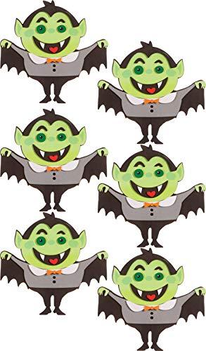 Foamies Halloween Foam Craft Kits for Group, School, Parties, Classroom Activity, Bulk Set (Vampire Dracula Monsters 6 Kits 102 -