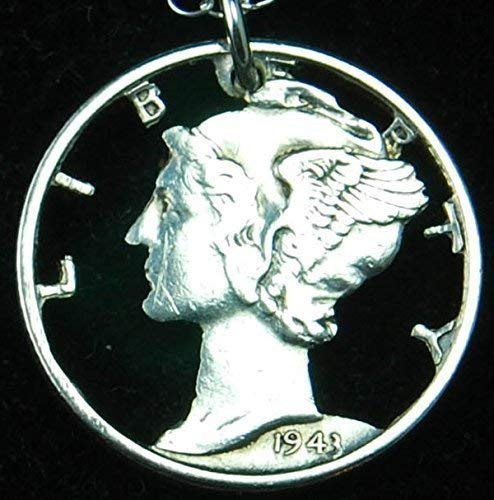 ty Head Dime Cut Coin Necklace ()
