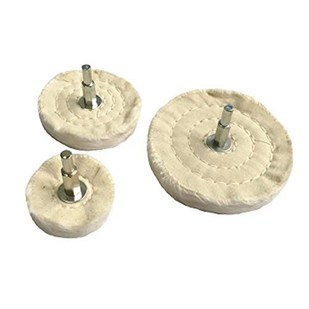 Carving Expert 100% Cotton Polishing Mop Buffing Wheel Polish Pad Polishers Drills (3 sizes)