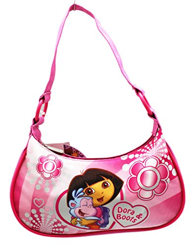 - Dora the Explorer Dora and Boots Floral Theme Pink Kids Handbag