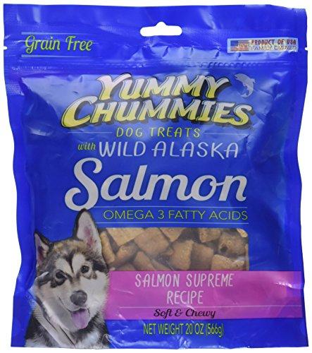 Yummy Chummies Grain Free Wild Alaska Salmon Dog Treat Infused With Glucoamine And Chondroitin