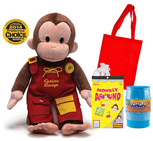 Curious George Gift Combo | Teach Me Curious George Plush 16