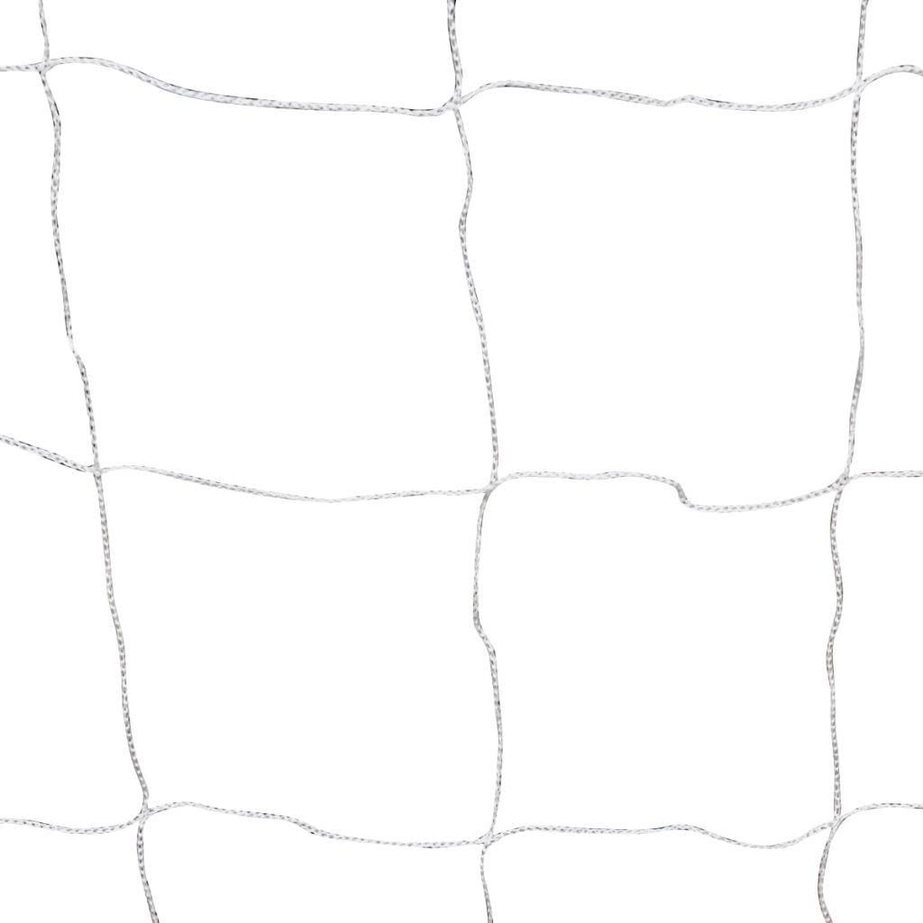 vidaXL Portería Acero Soccer Fútbol Portatil Tierra Césped Jardín Deporte 182x61x122 cm