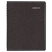 DayMinder Seven-Day Weekly Planner, 6 7/8 x 8 3/4, Black, 2016 by DayMinder