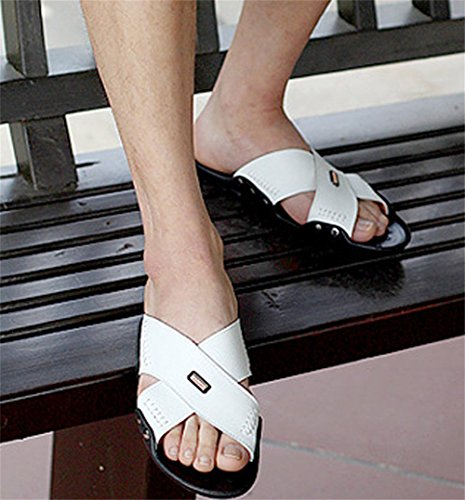 Pantofole Insun da cuciture pelle White uomo brown in gialle dwrSZw5q