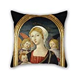 eyeselect The Oil Painting Matteo Di Giovanni - Madonna with Child and Angels Pillow Shams of 20 X 20 Inches / 50 by 50 cm Decoration Gift for Wedding Valentine Birthday Teens Husband Shop (2 Sides)